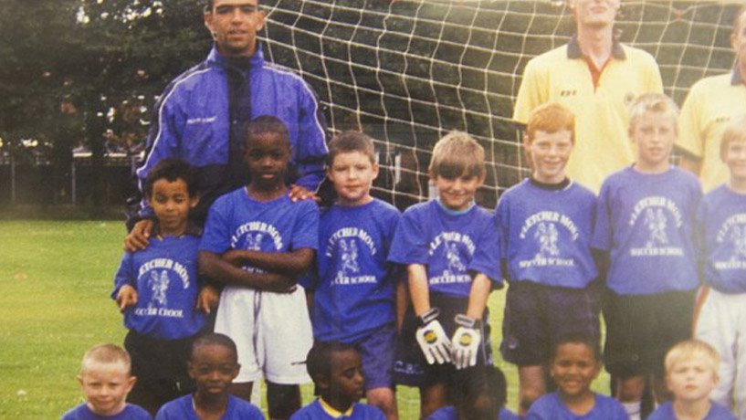 Marcus Rashford at young age playing for Fletcher Moss Rangers