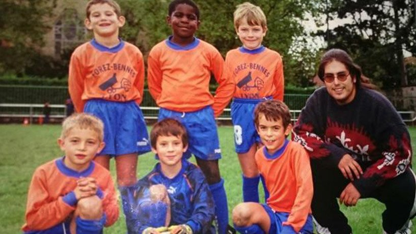 Samuel Umtiti in local football club at age of 6