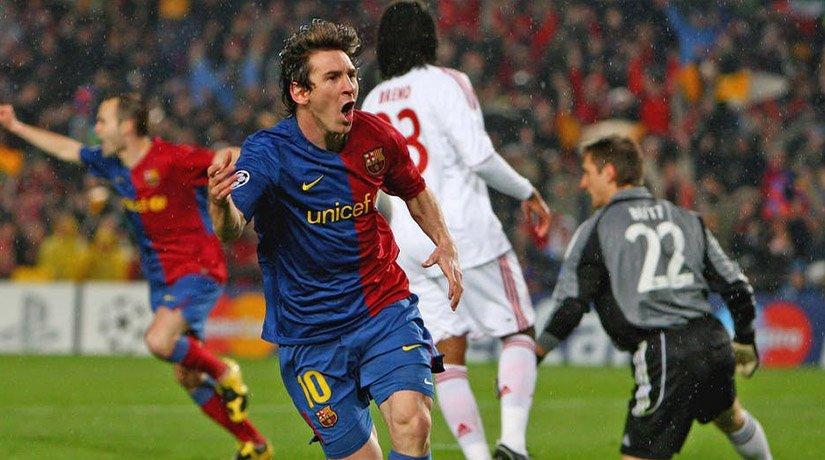 Messi scored a goal in the game versus bayern munich