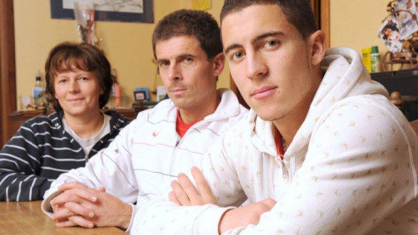Eden Hazard and his parents
