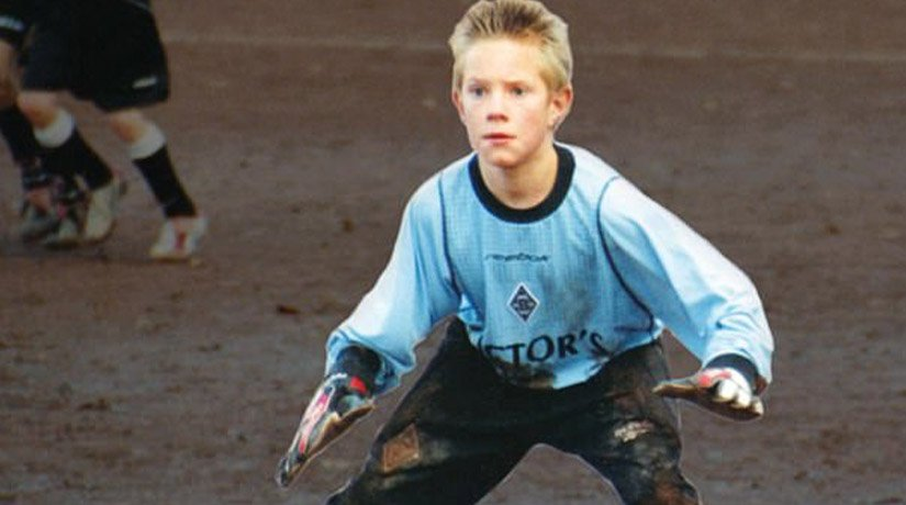 Marc-André ter Stegen playing at a young age.