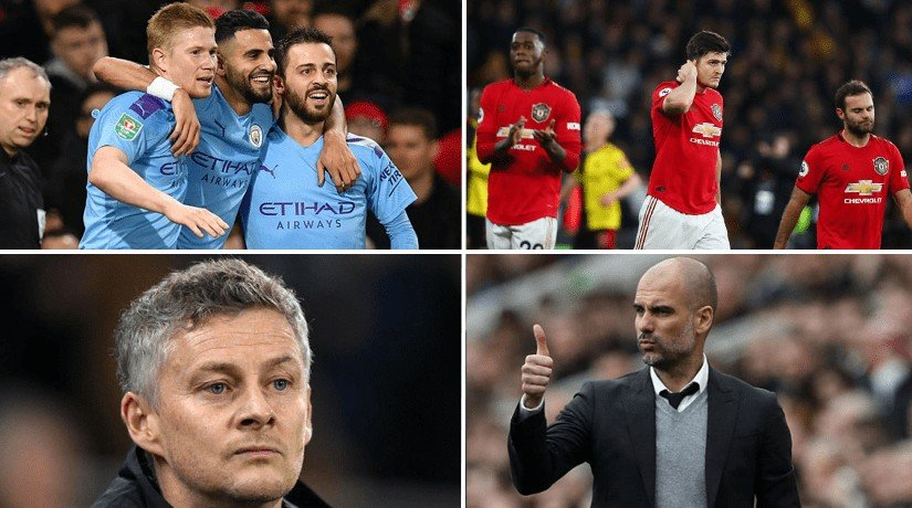 MAN CITY VS MAN UTD ROUND-UP & HIGHLIGHTS: EFL CUP SEMI-FINAL ON 29.01.2020