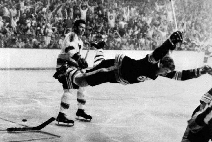 """Flying Bobby Orr."" Probably the most famous goal in NHL history."
