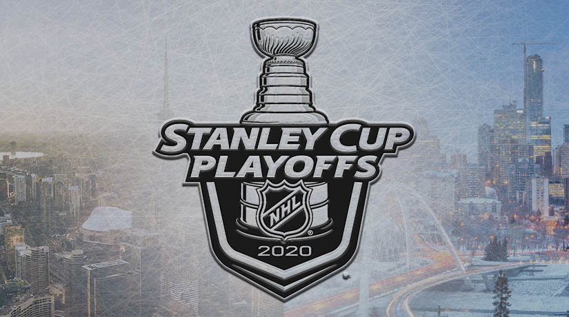 Toronto and Edmonton are leading the race for the right to host NHL playoff matches