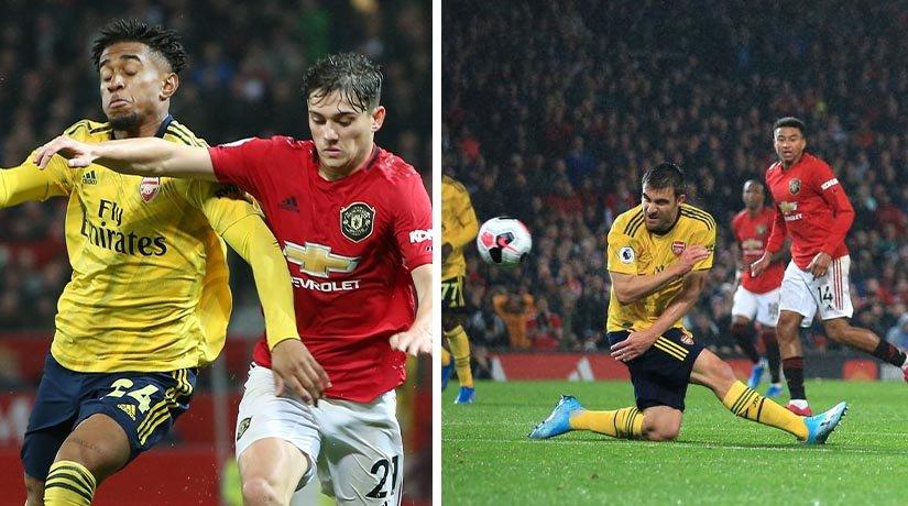 Arsenal vs Man Utd previous European fixture