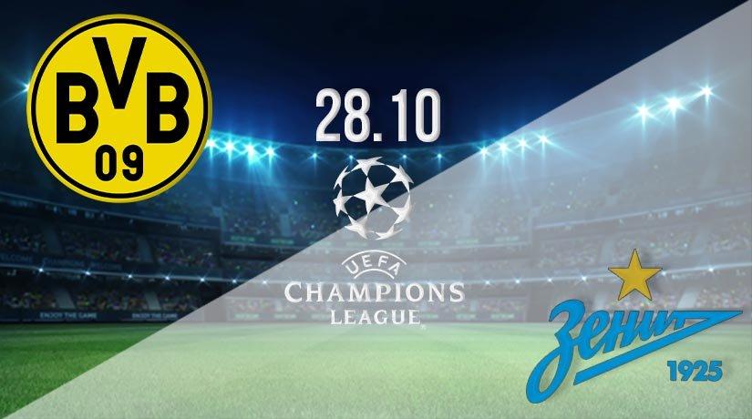 Borussia Dortmund vs Zenit Prediction: UEFA Champions League on 28.10.2020