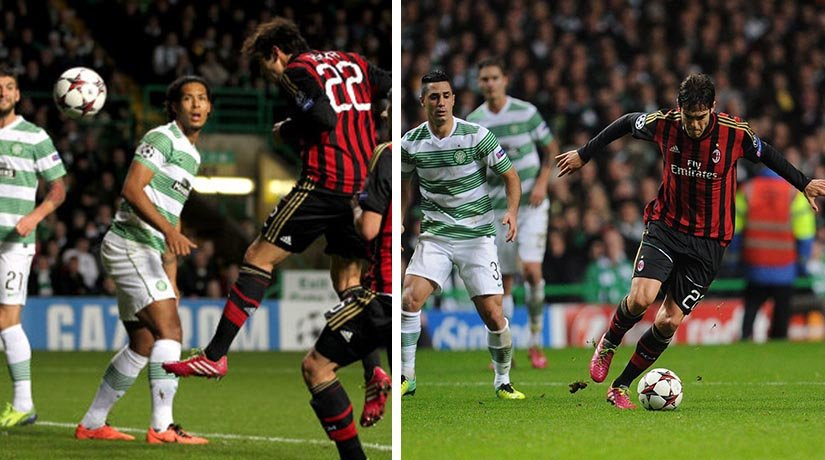 Celtic vs AC Milan players during their previous Europa League fixture.