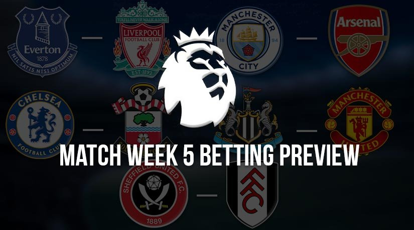 English Premier League Matchweek 5 Betting Preview – Season 2020/21