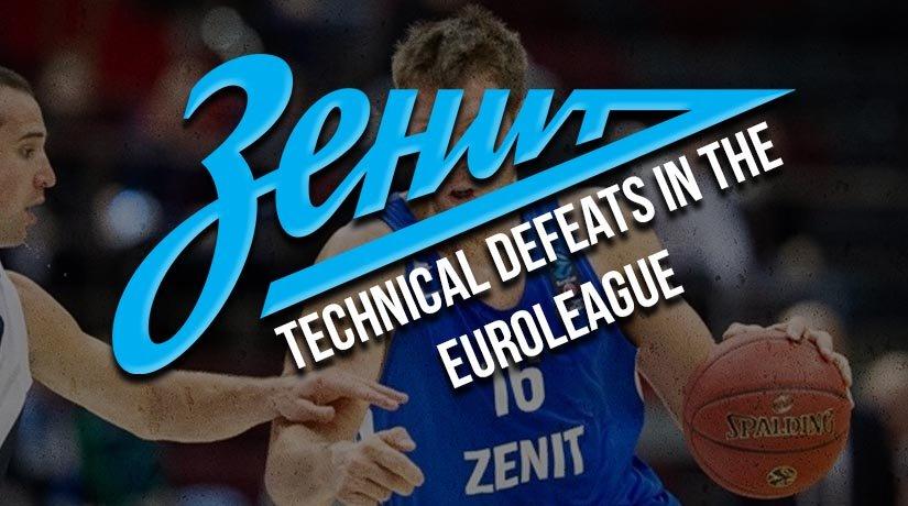 Zenit receives technical defeats in the Euroleague