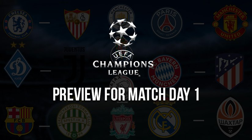 Champions League Preview for Match Day 1 – Season 2020/21