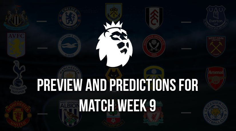 English Premier League Predictions for Saturday – Match Week 9, Season 2020/21