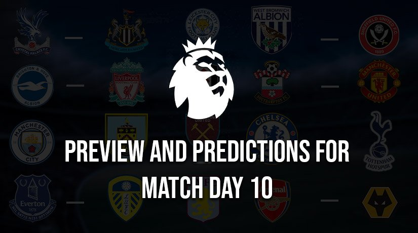 English Premier League Predictions for This Weekend – Matchday 10, Season 2020/21