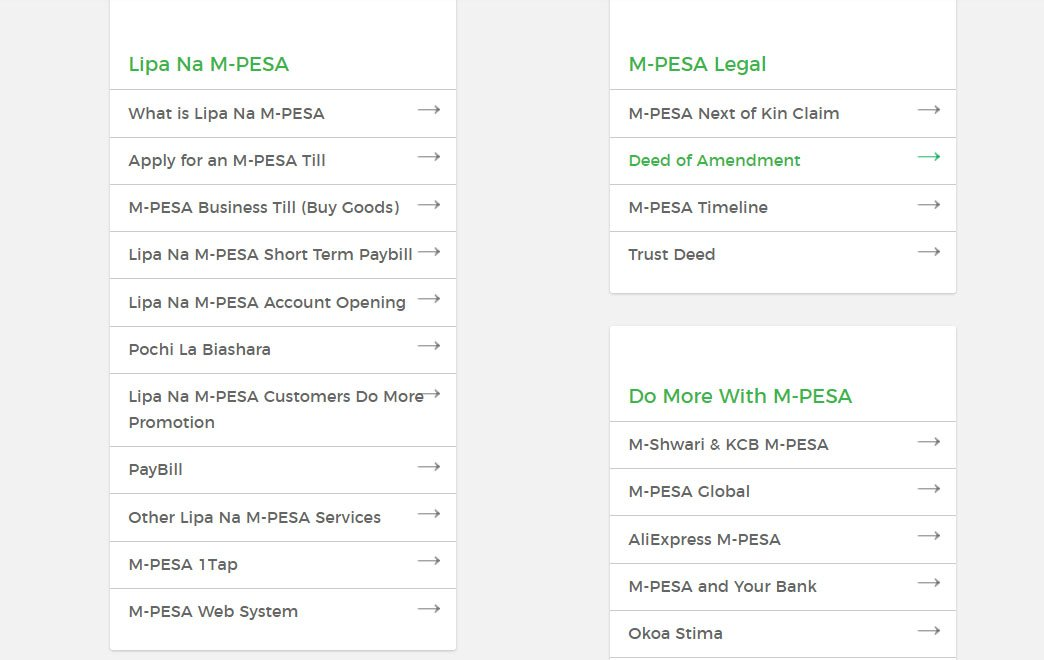 M-Pesa menu that allows users to 22Bet deposit with MPesa paybill number
