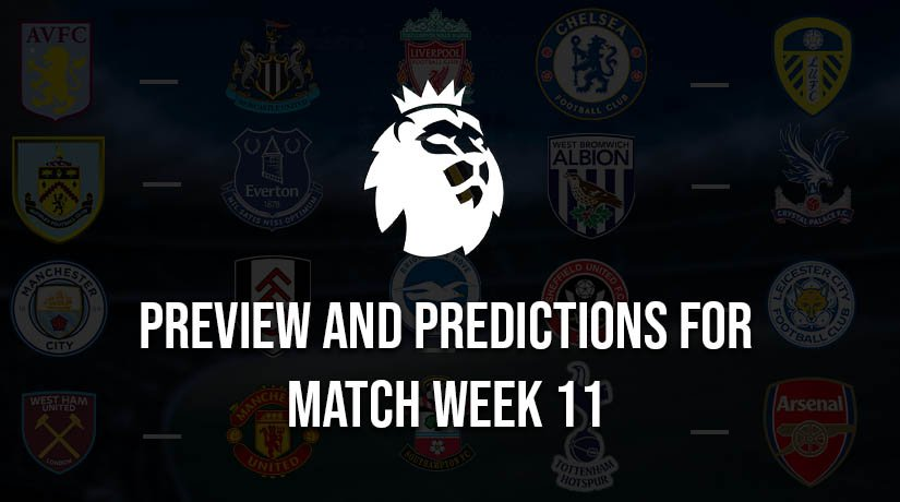 English Premier League Predictions for Saturday – Match Week 11, Season 2020/21