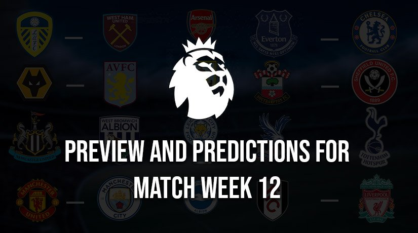 English Premier League Predictions for Saturday – Match Week 12, Season 2020/21