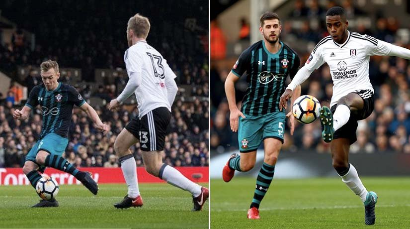 Fulham vs Southampton players before EPL boxing day 2020.