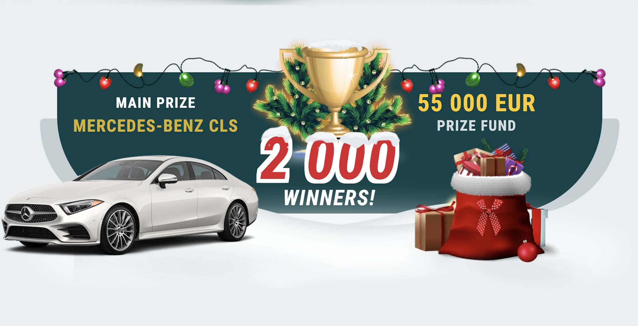 Mercedes-Benz CLS and prize fund of 22Bet Christmas Lottery