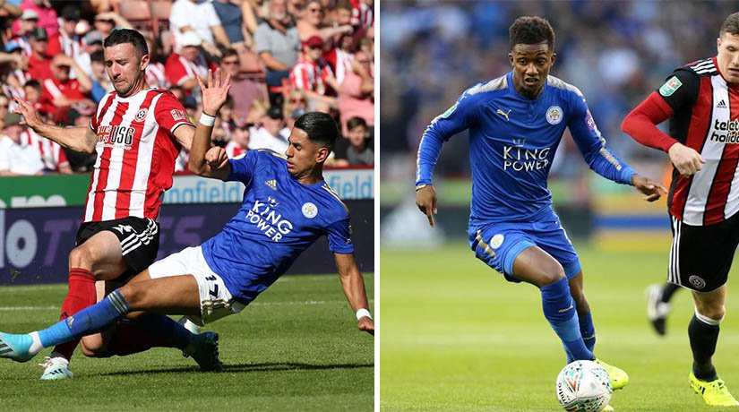 Sheffield vs Leicester players during the match