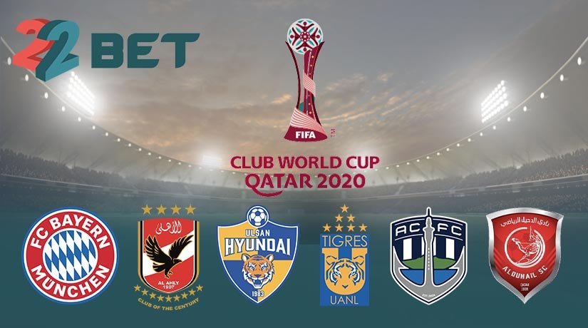 Teams participating in the 2020 FIFA Club World Cup
