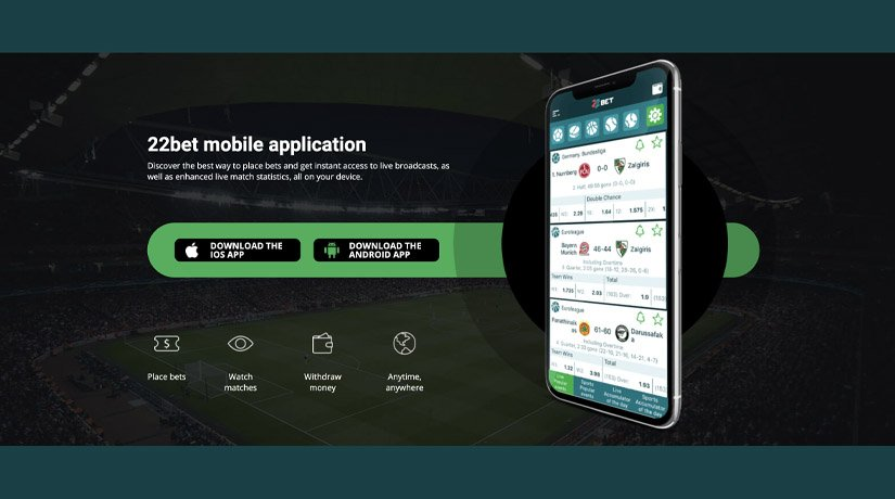 Official 22Bet Kenya app and apk for Android.