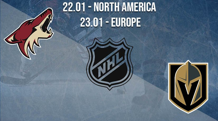 NHL Prediction: Arizona Coyotes vs Vegas Golden Knights on 22.01.2021 North America, on 23.01.2021 Europe