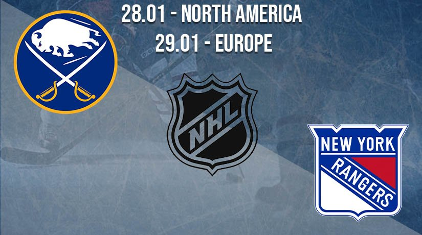 NHL Prediction: Buffalo Sabres vs New York Rangers on 28.01.2021 North America, on 29.01.2021 Europe