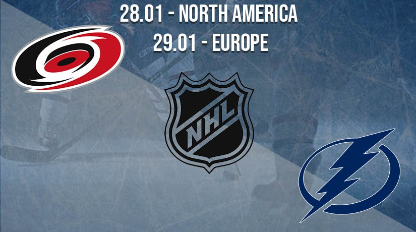 NHL Prediction: Carolina Hurricanes vs Tampa Bay Lightning on 28.01.2021 North America, on 29.01.2021 Europe