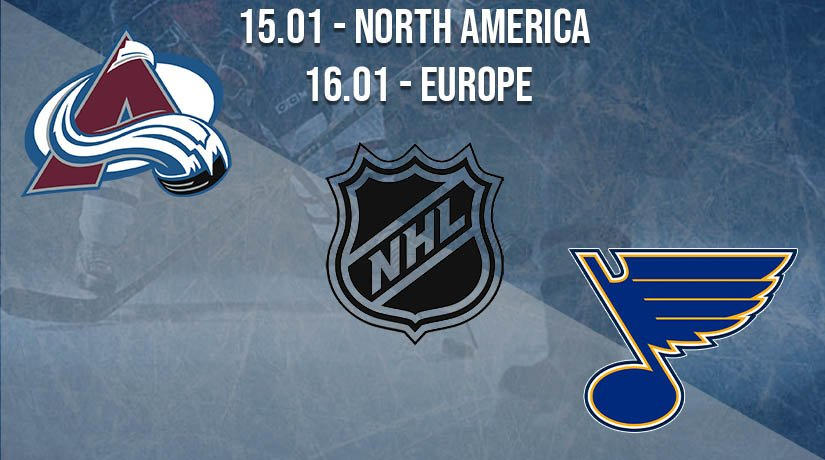 NHL Prediction: Colorado Avalanche vs St. Louis Blues on 15.01.2021 North America, on 16.01.2021 Europe