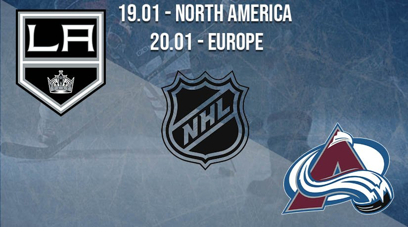NHL Prediction: Los Angeles Kings vs Colorado Avalanche on 19.01.2021 North America, on 20.01.2021 Europe