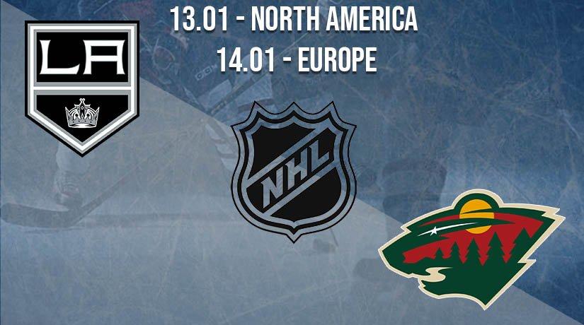 NHL Prediction: Los Angeles Kings vs Minnesota Wild on 13.01.2021 North America, on 14.01.2021 Europe
