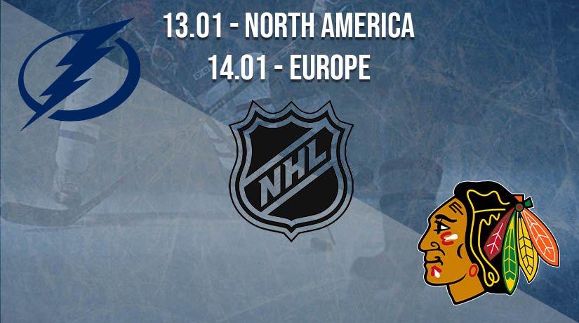 NHL Prediction: Tampa Bay Lightning vs Chicago Blackhawks on 14.01.2021 Europe, on 13.01.2021 North America