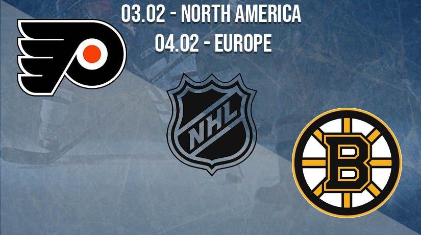 NHL Prediction: Philadelphia Flyers vs Boston Bruins on 03.02.2021 North America, on 04.02.2021 Europe