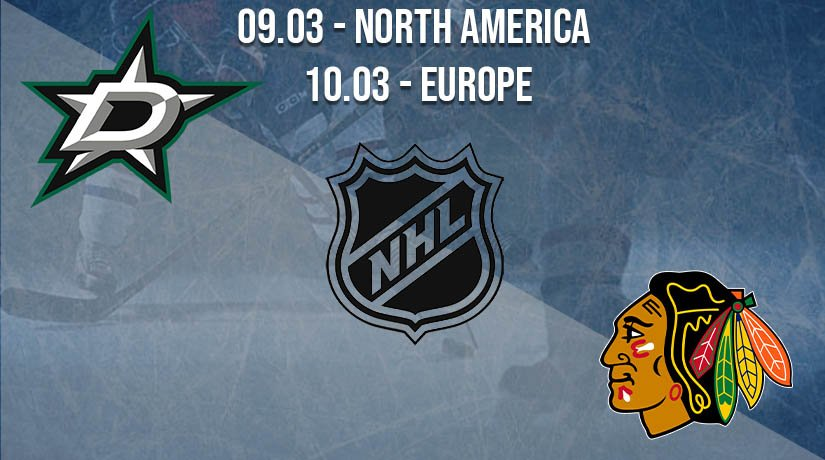 NHL Prediction: Dallas Stars vs Chicago Blackhawks on 09.03.2021 North America, on 10.03.2021 Europe