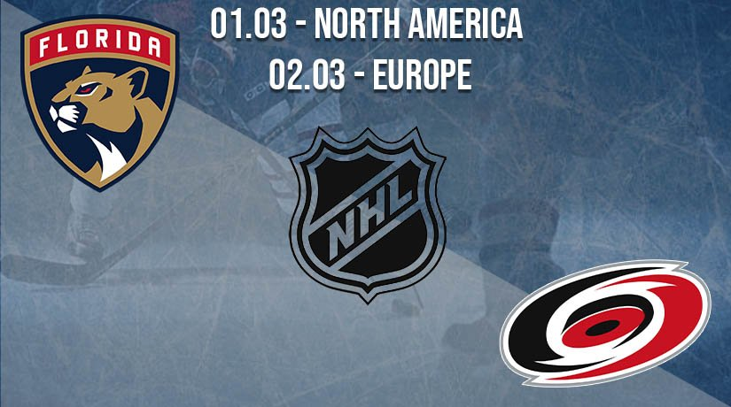 NHL Prediction: Florida Panthers vs Carolina Hurricanes on 01.03.2021 North America, on 02.03.2021 Europe