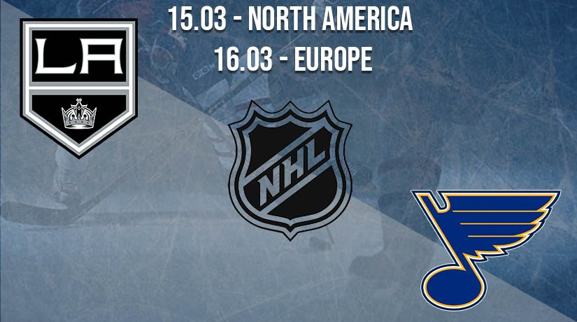 NHL Prediction: LA Kings vs St. Louis Blues on 15.03.2021 North America, on 16.03.2021 Europe