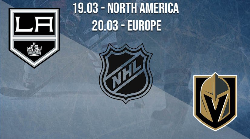 NHL Prediction: Los Angeles Kings vs Vegas Golden Knights on 19.03.2021 North America, on 20.03.2021 Europe