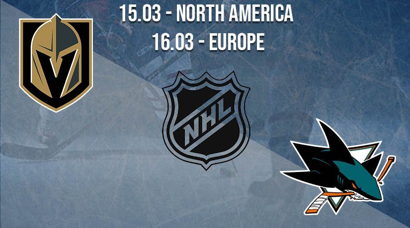 NHL Prediction: Vegas Golden Knights vs San Jose Sharks on 15.03.2021 North America, on 16.03.2021 Europe