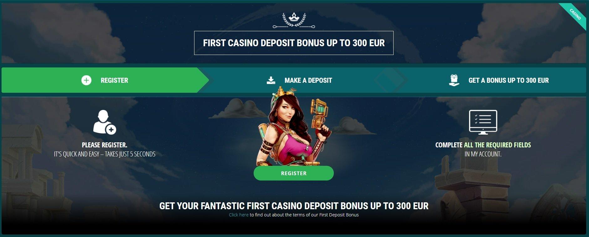 22Bet casino sign up bonus for first deposit.