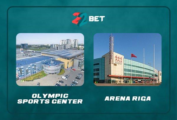 Men's ice hockey world cup venues in Riga, Latvia