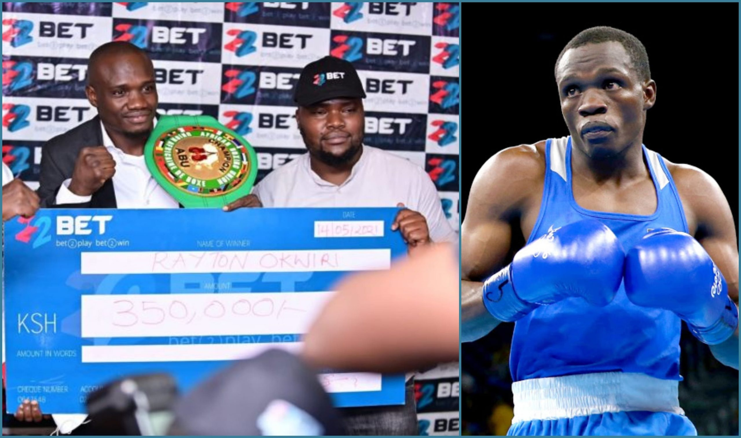 22Bet Sponsors African Boxing Champion Rayton Okwiri Ahead of WBO Title Fight