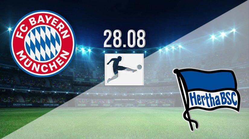 Bayern Munich vs Hertha Berlin Prediction: Bundesliga Match on 28.08.2021